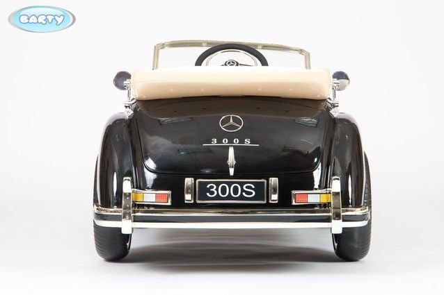 Электромобиль Mercedes-Benz 300S Retro (АКБ 12v10ah, колеса резина, сиденье кожа, пульт, музыка)