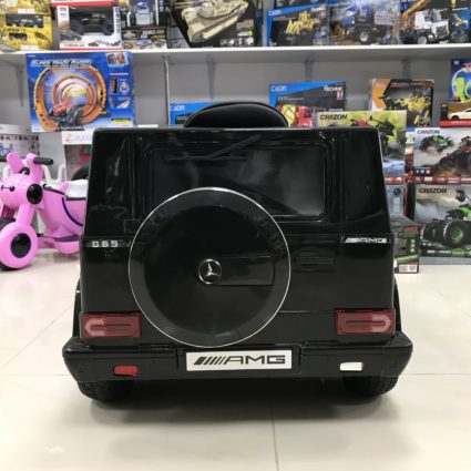 Электромобиль Mercedes-Benz G65 Black LS-528 (колеса резина, кресло кожа, пульт, музыка)